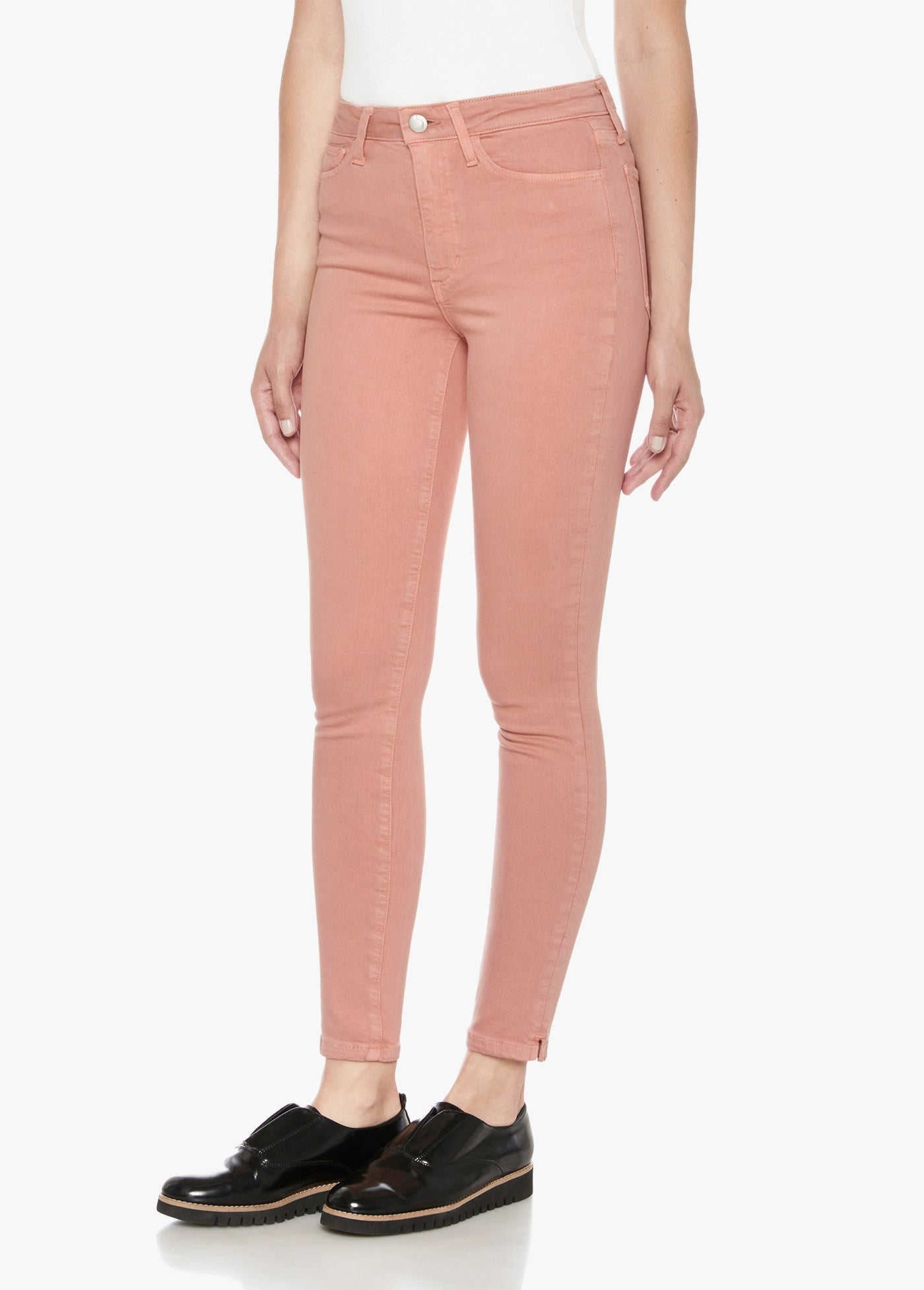 The Charlie High Rise Skinny Ankle - Blush