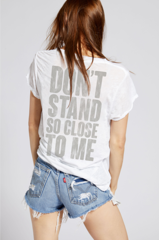 Vintage The Police - Don't Stand So Close to Me Tee - White