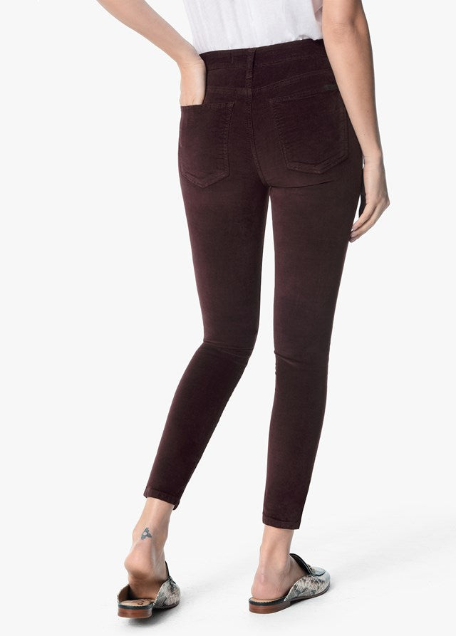 The Charlie High Rise Skinny Ankle in Velvet - Aubergine