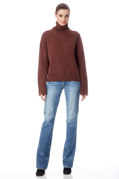 Dolores Turtleneck Sweater - Mahogany