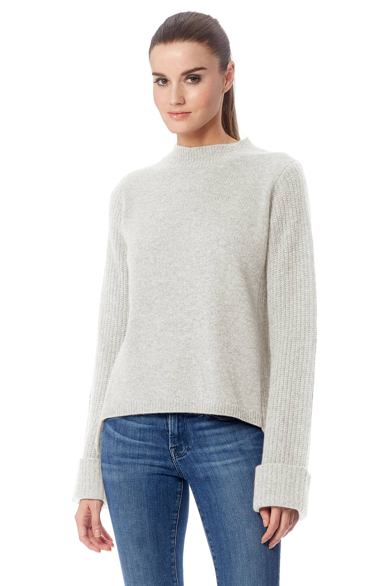 Elizabeth Mock Neck Sweater - Mist