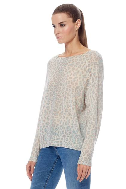 Irina Boat Neck Sweater - Mint/Chalk