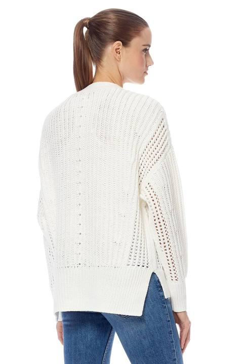 Marlowe Cable-Knit Sweater - White
