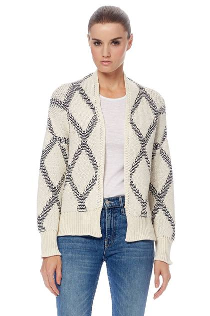 Zhara Open-Front Cropped Cardi - Cream/Cinder