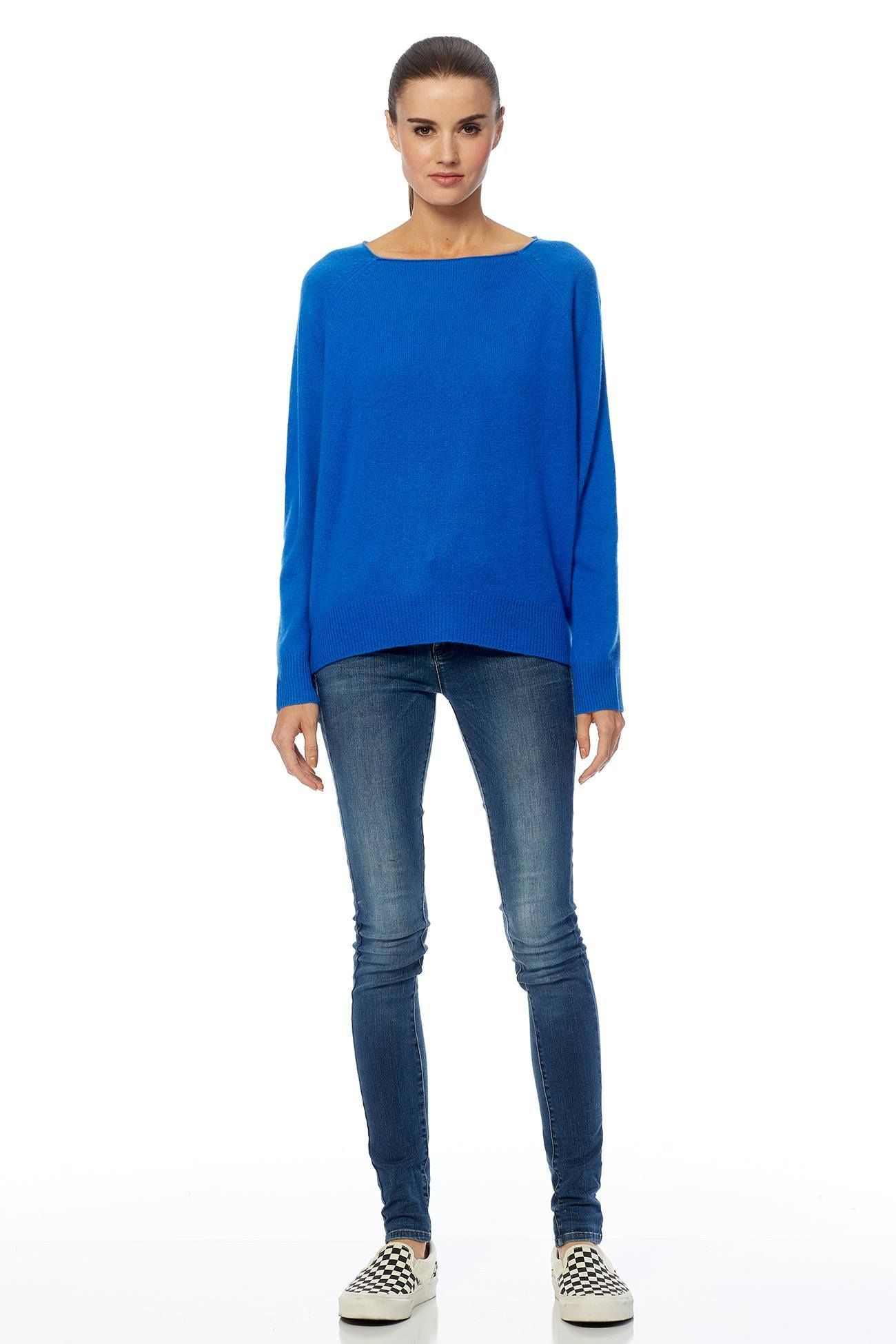 Jolene Boat Neck Sweater - Electric Blue