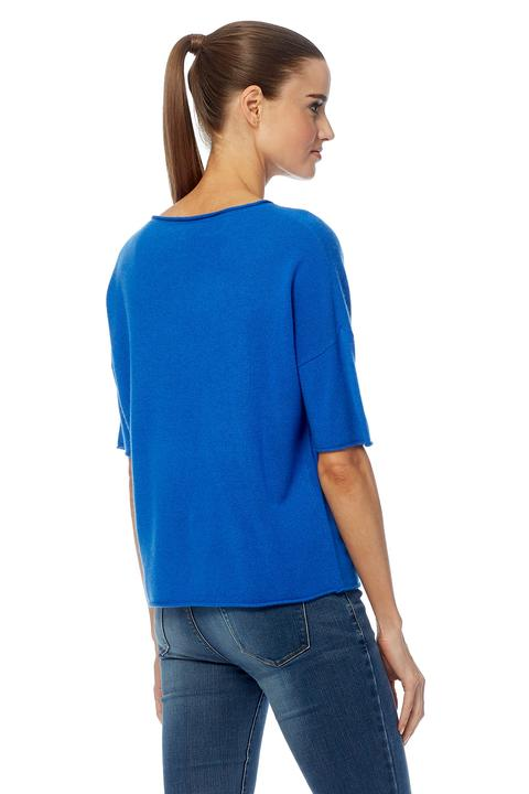 Isla Boat Neck Sweater - Electric Blue