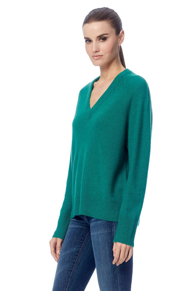 Callie V-Neck Sweater - Emerald