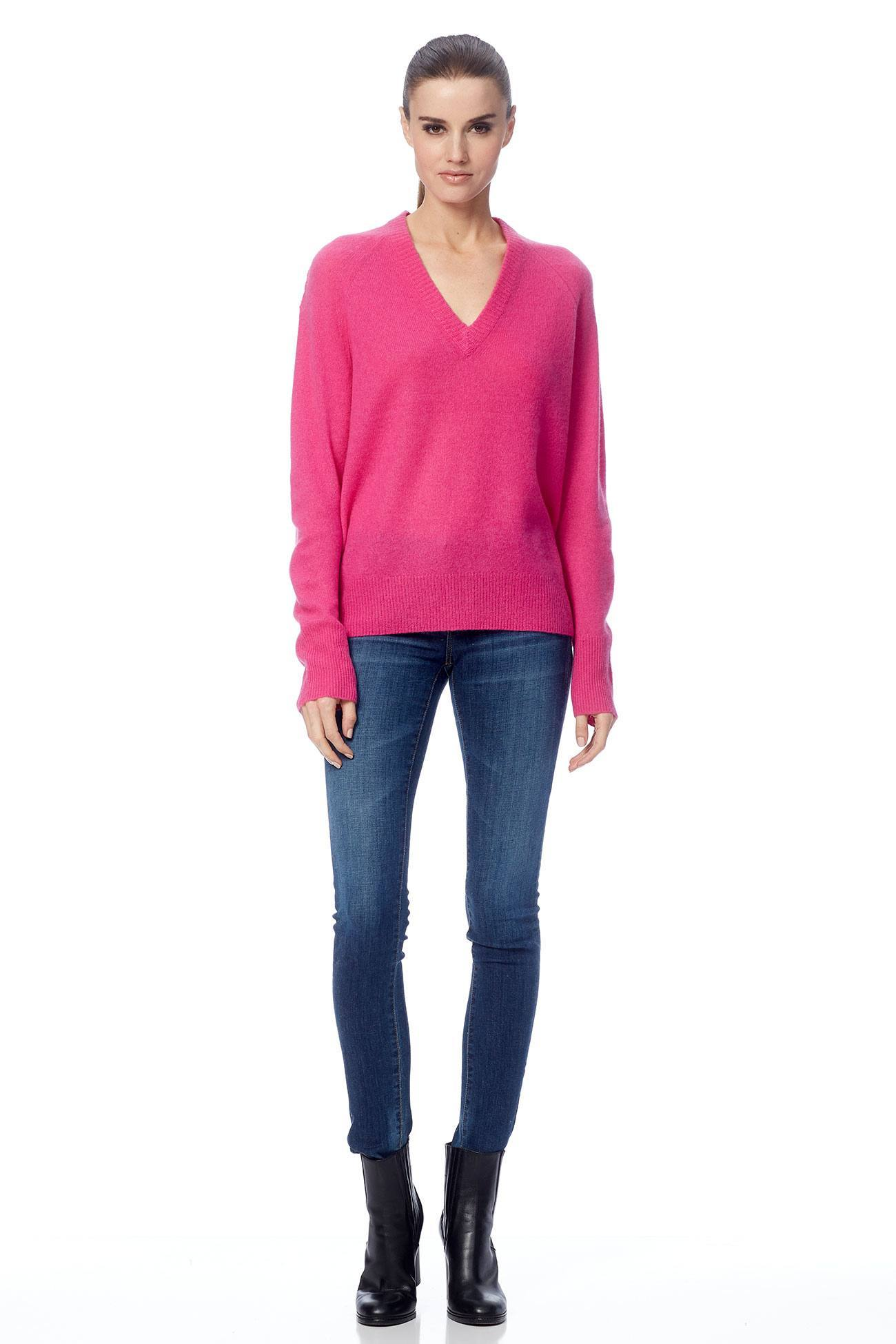 Callie V-Neck Sweater - Orchid