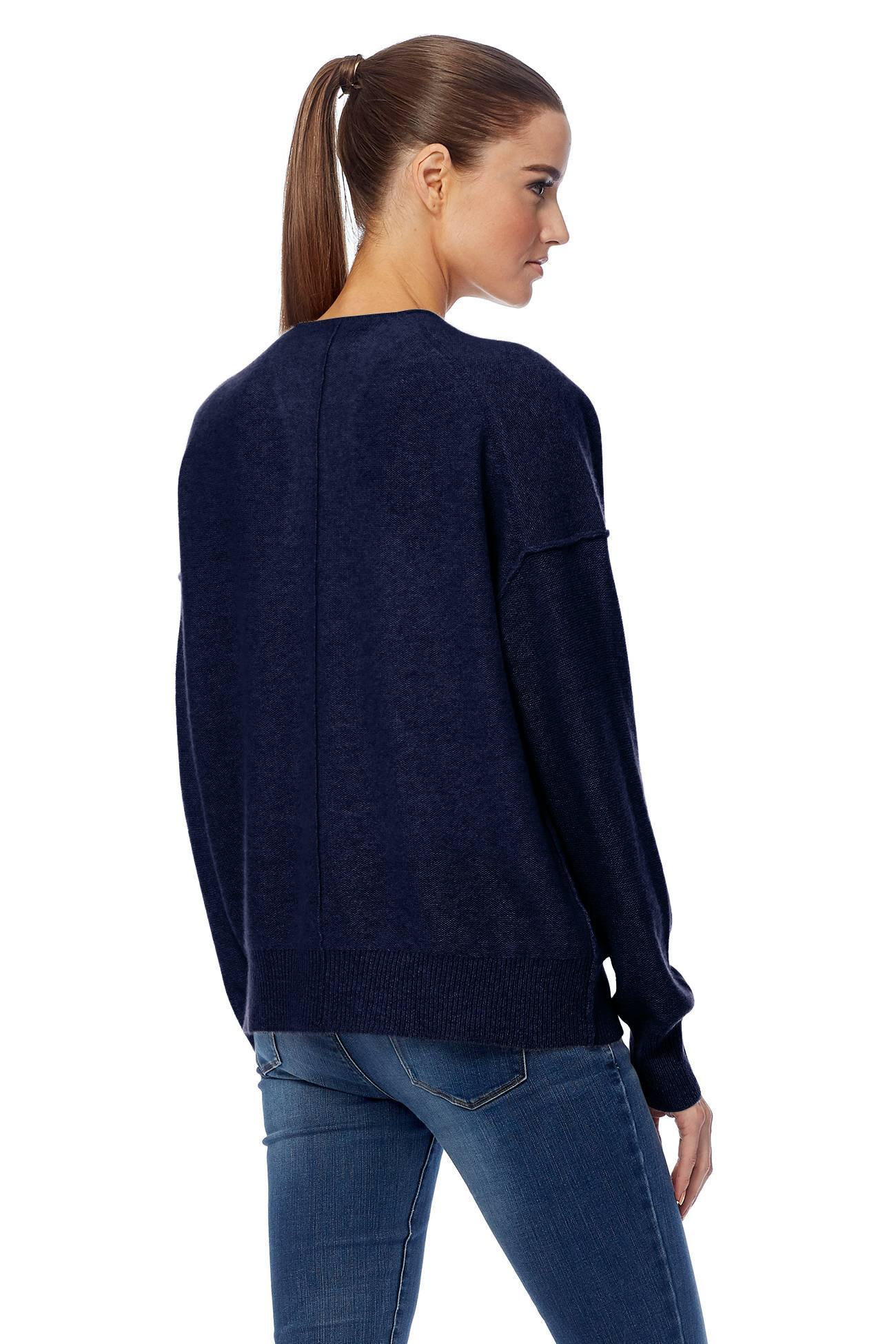 Itzie V-Neck Cardigan - Navy