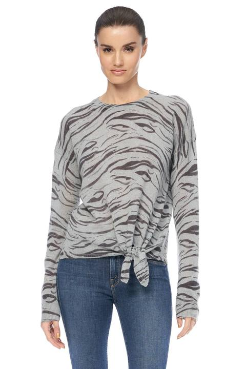 Kourtney Cashmere Sweater - Misty Blue/Multi
