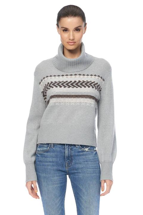 Kimmie Cashmere Sweater - Misty Blue/Multi