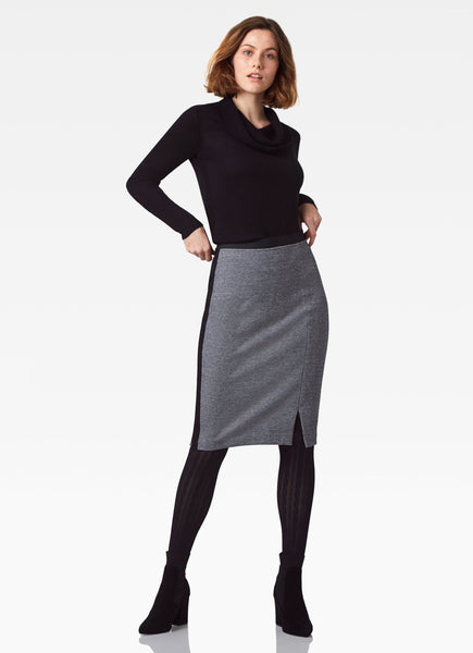 Park Avenue Stretch Skirt - Black/White