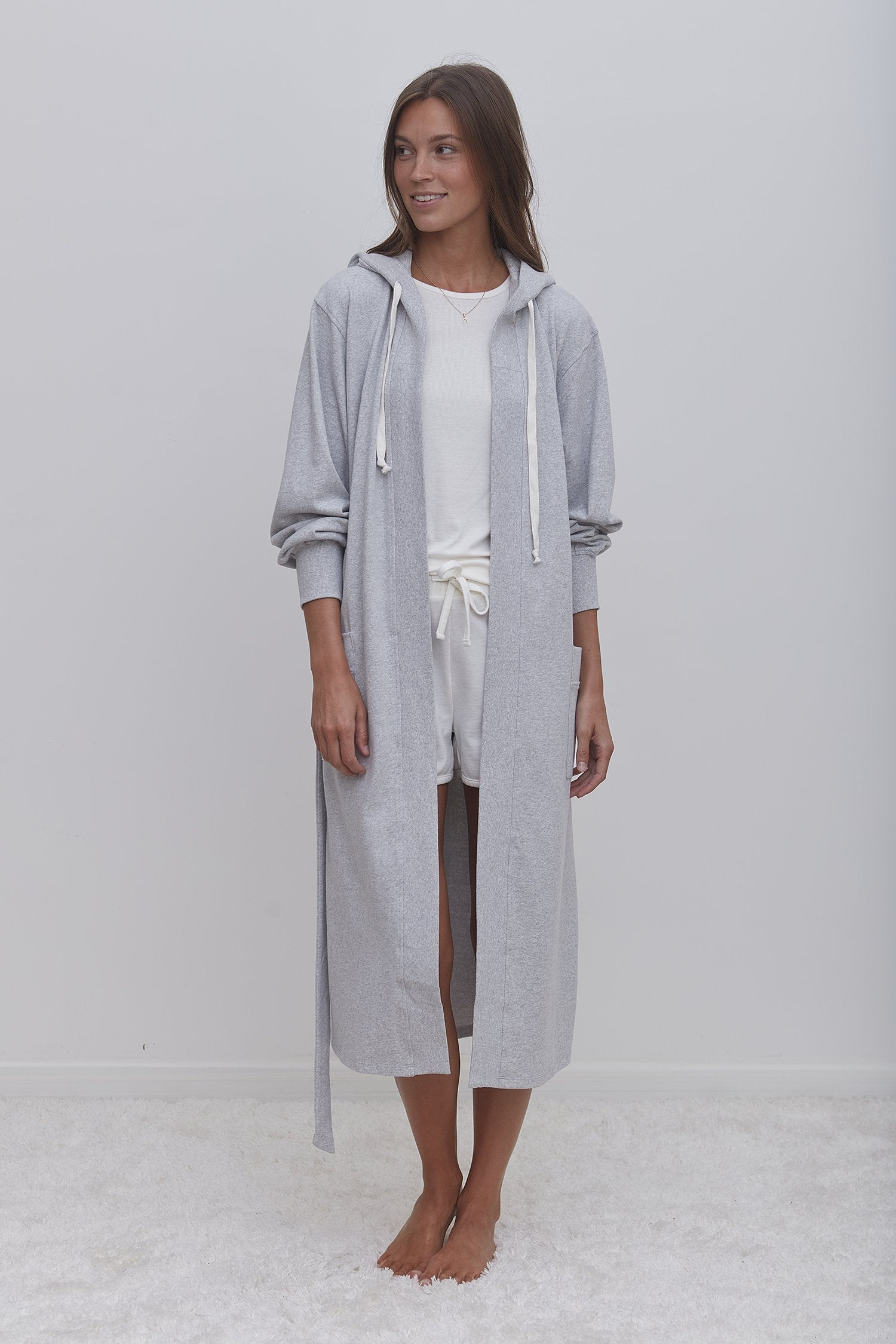 Eco Reading Robe - Light Eco Grey