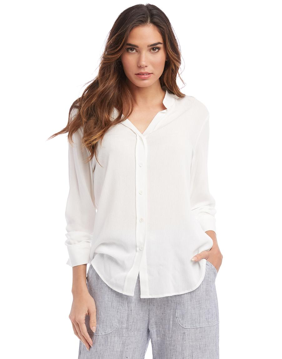 Shirred Sleeve Shirt - Off White