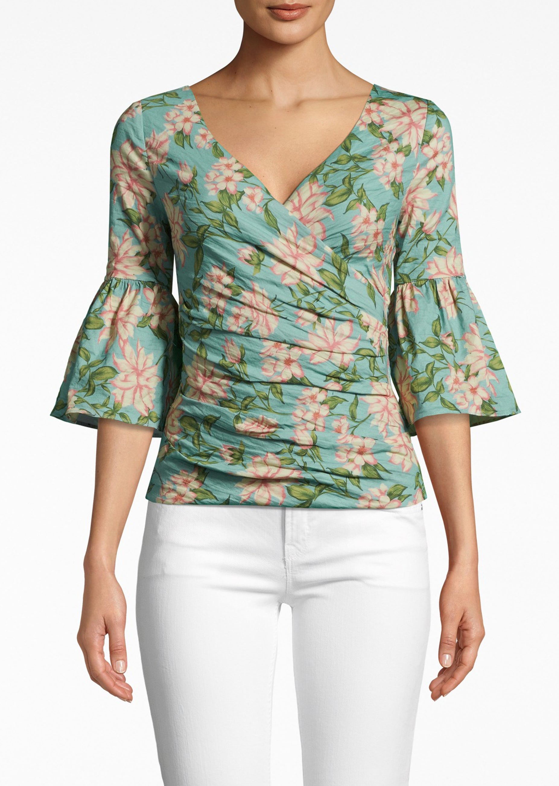 Bell Sleeve Top - Spring Dream