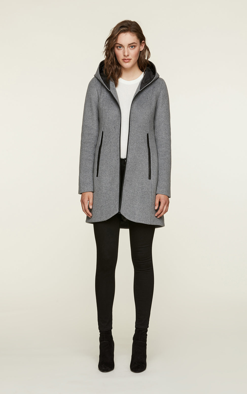 Charlena-FX Slim Fit Wool Coat - Ash