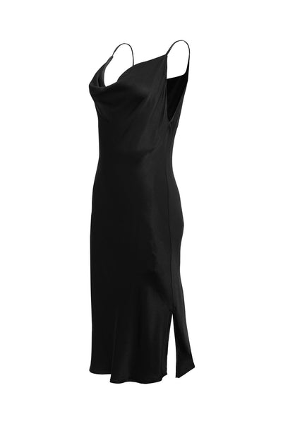 Haley Cowl Dress - Black