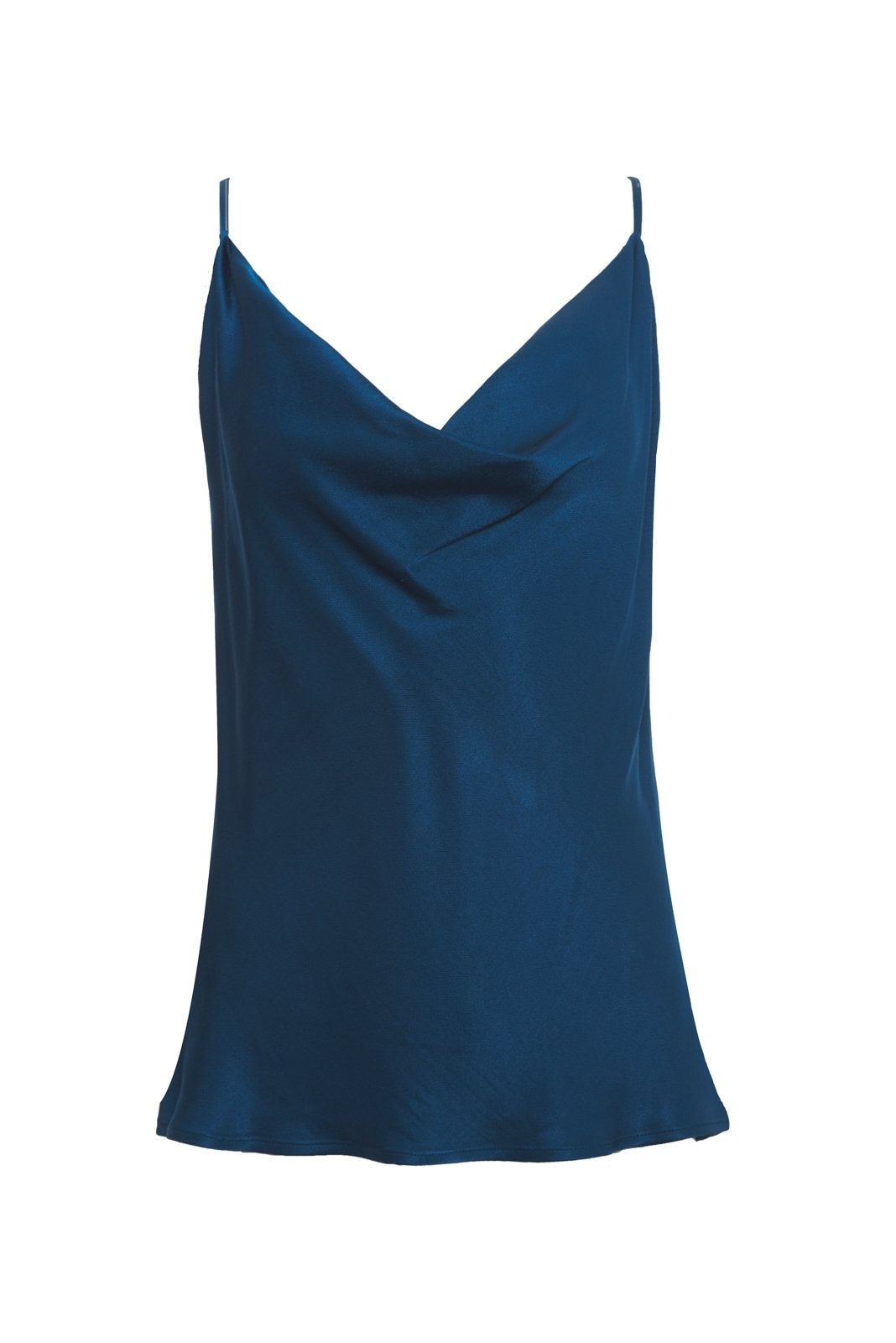 Haley Cowl Cami - Tanzanite Blue