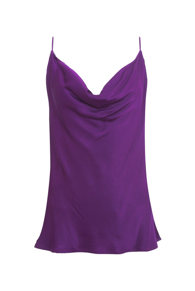 Haley Cowl Dress - Deep Violet