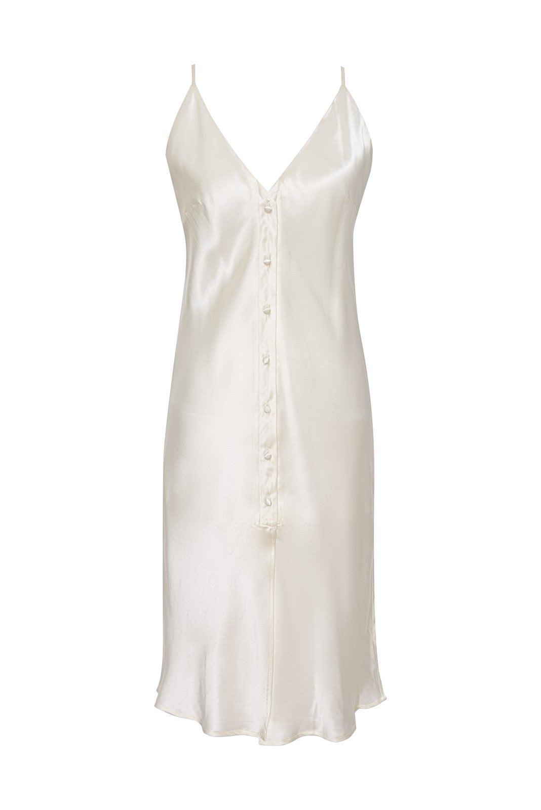 Silk Button Camisole - Dove