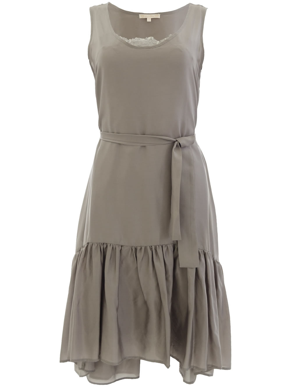 Habotai Silk Tank Dress - Steeple Grey