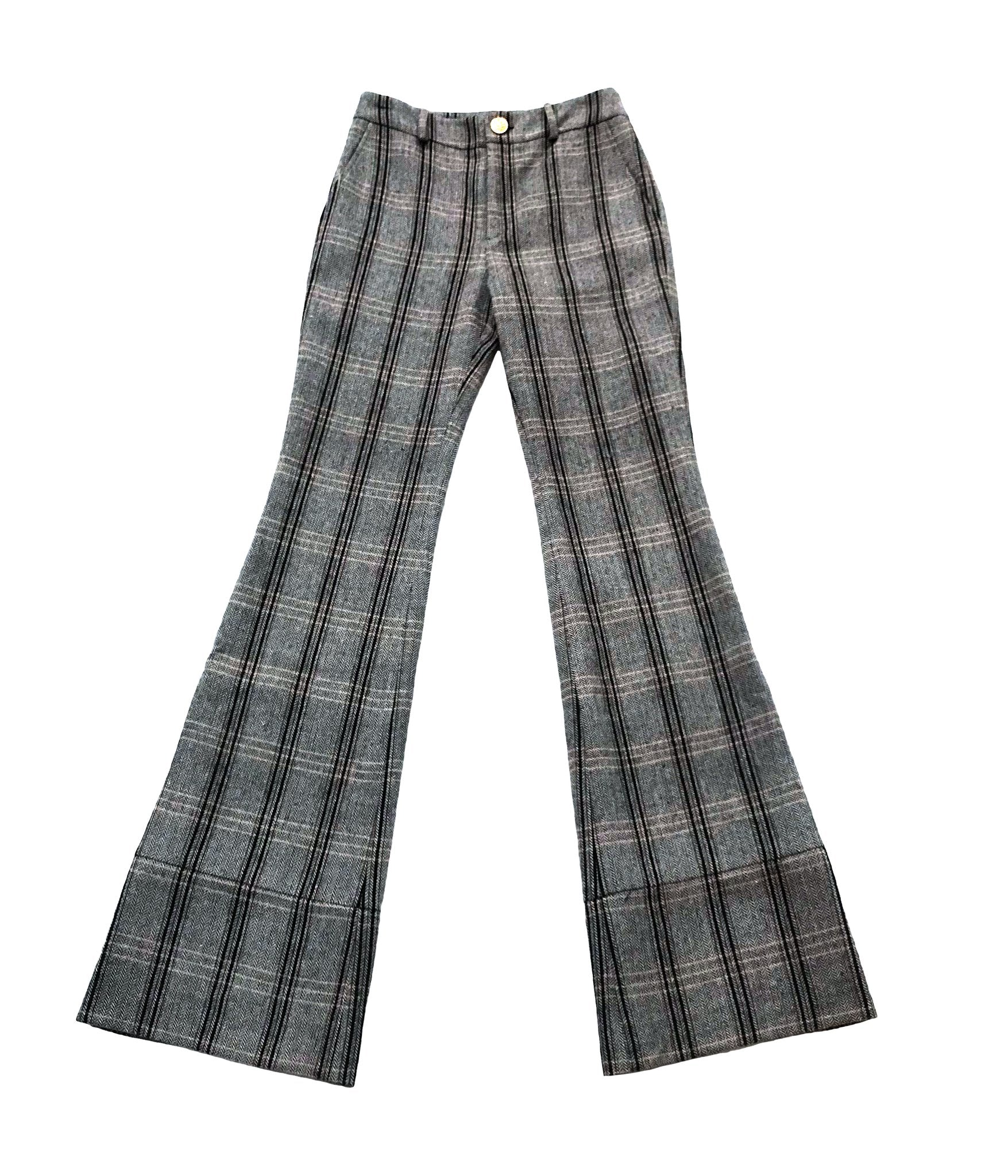 Annie Trouser - Herringbone Plaid