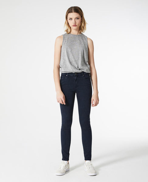 Sateen Farrah Skinny Ankle - Sulfur Dark Cove