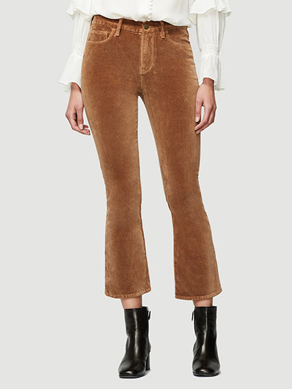 Le Velveteen Crop Mini Boot - Camel