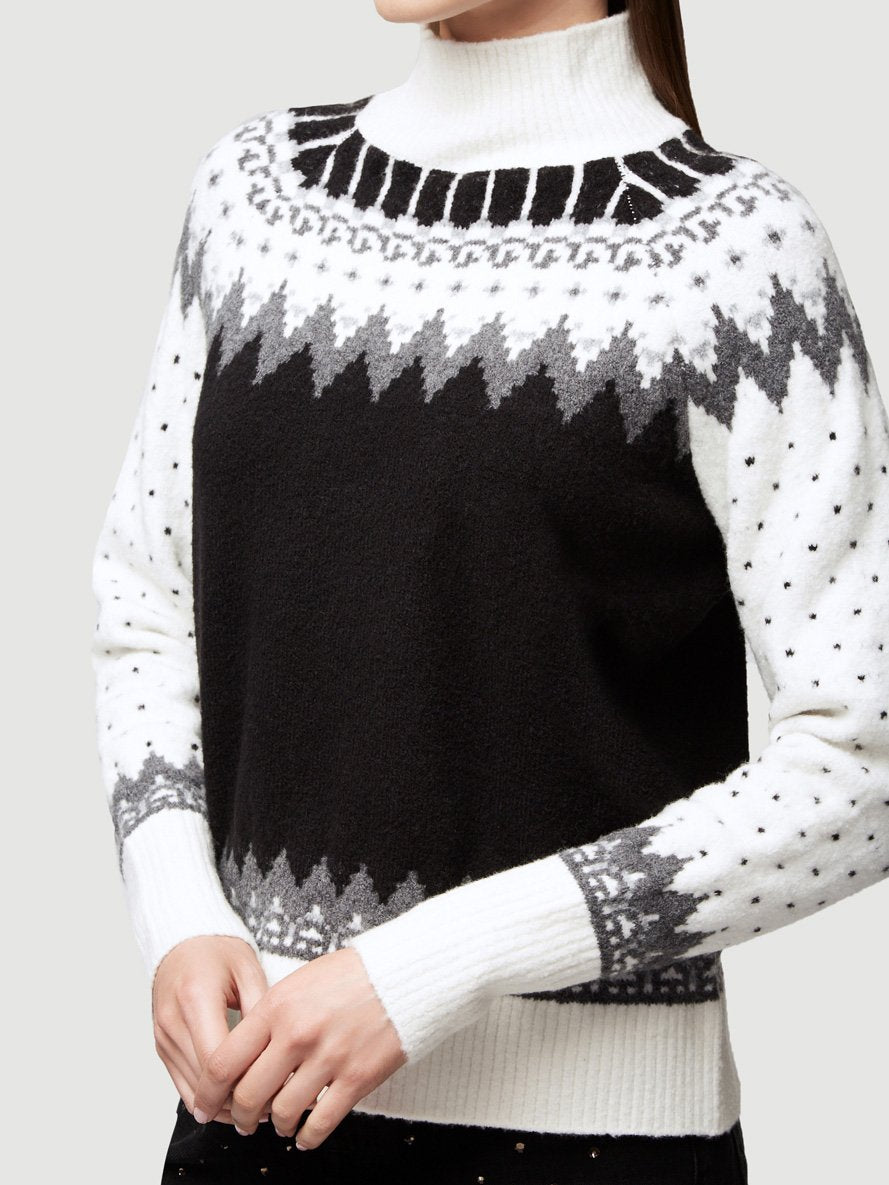 Fair Isle Turtleneck - Gris Multi