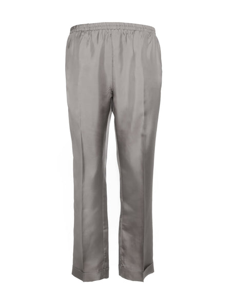 Silk twill Cuff Pants - Steeple Grey