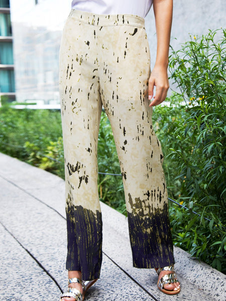 Go Easy Pant Printed - Olive Oil