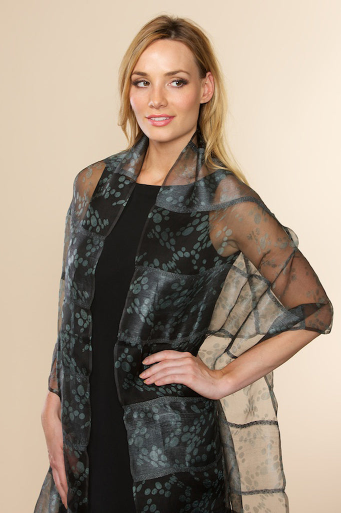 Rasa Bubbles Silk Scarf - Black