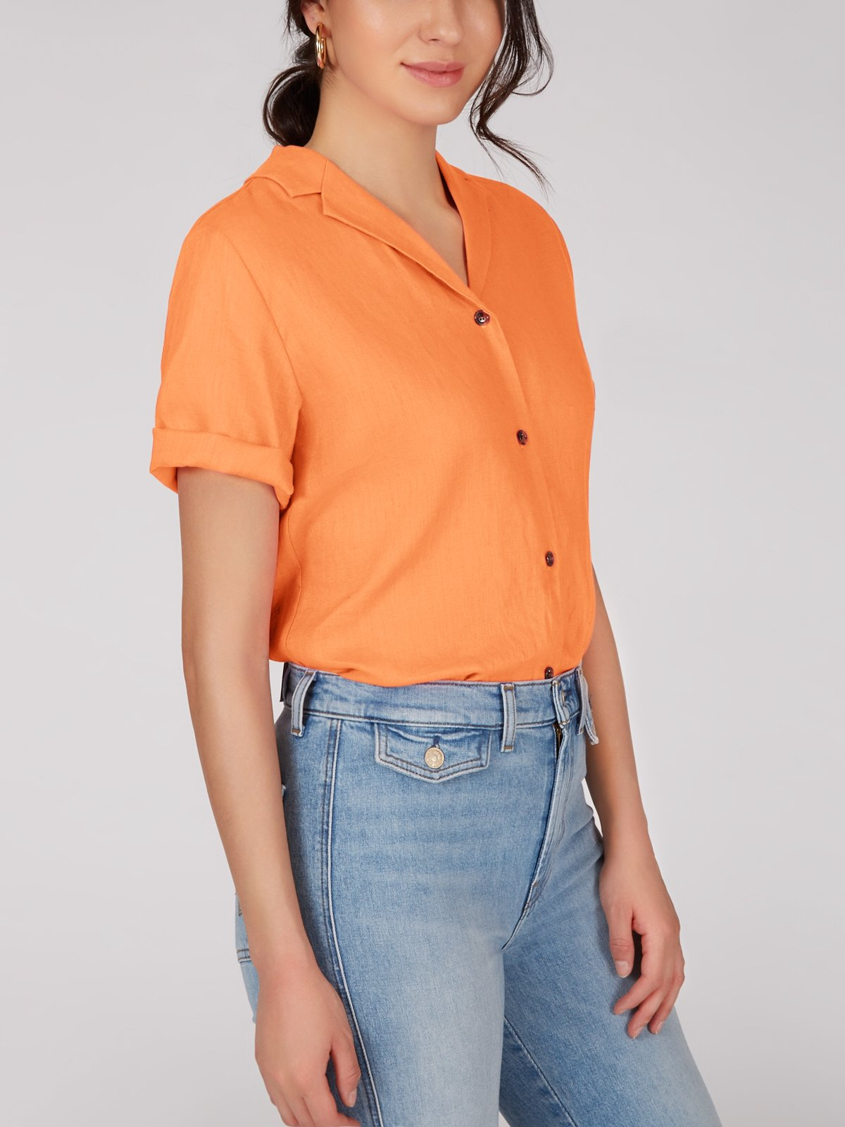Camp Shirt - Orange Zest