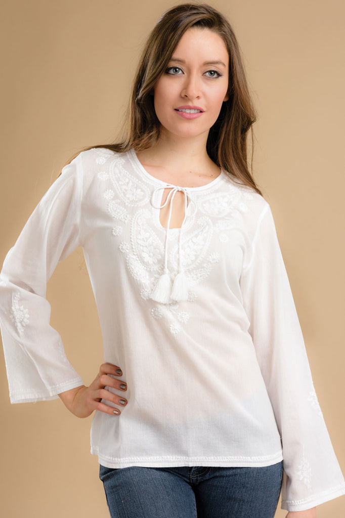 Sarika Tunic - White