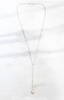 Chan Luu Grey Pearl Diamond Drop Necklace