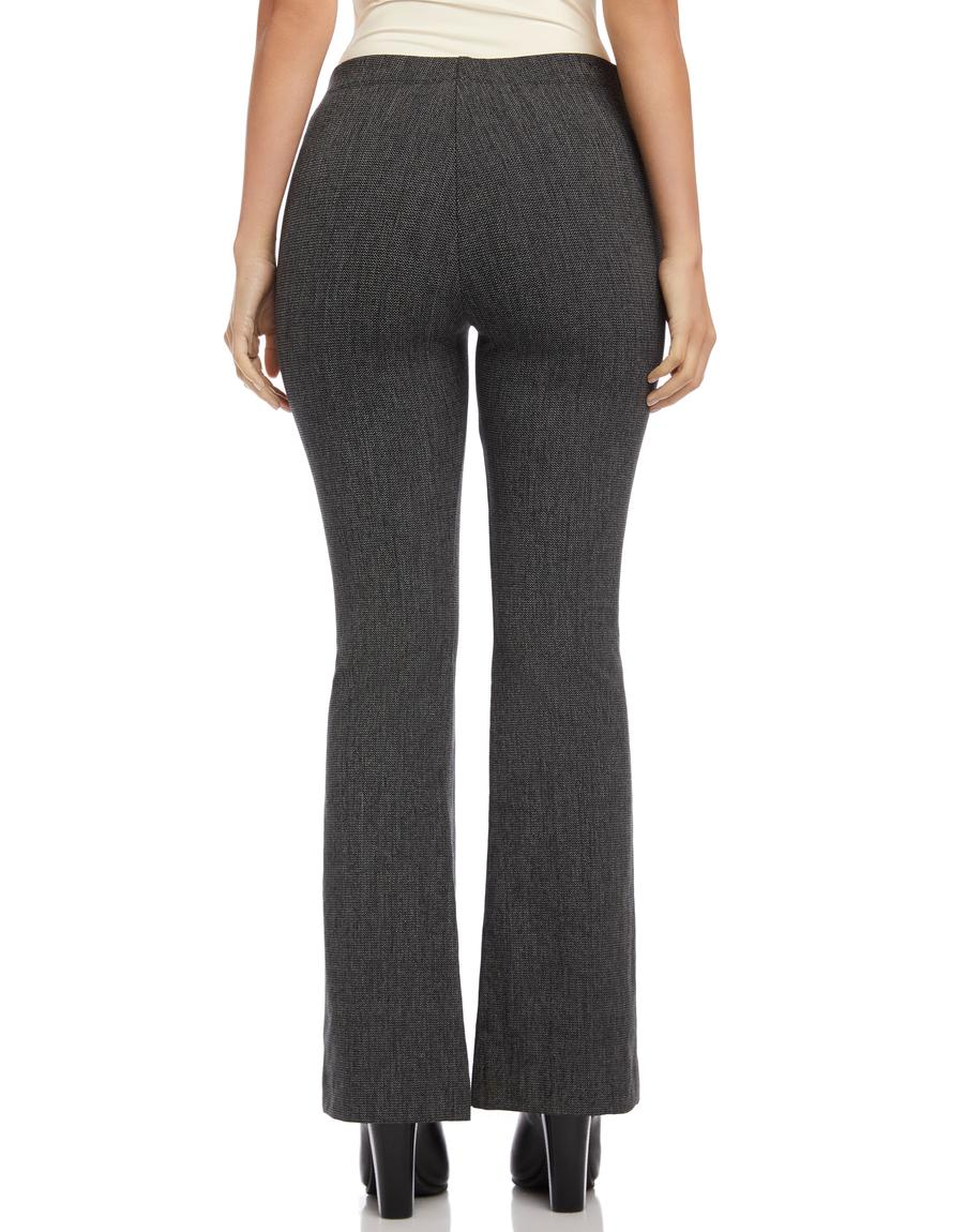 High Waisted Boot Cut Pants - Grey