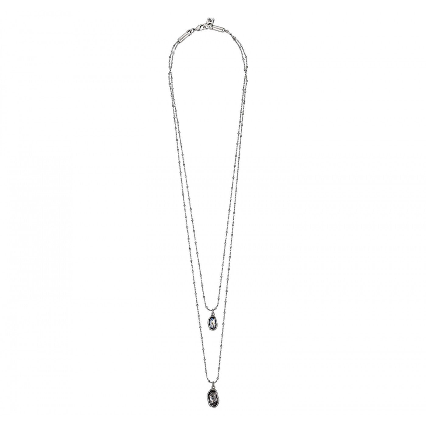 On Tip Toes Necklace - Blue/Grey