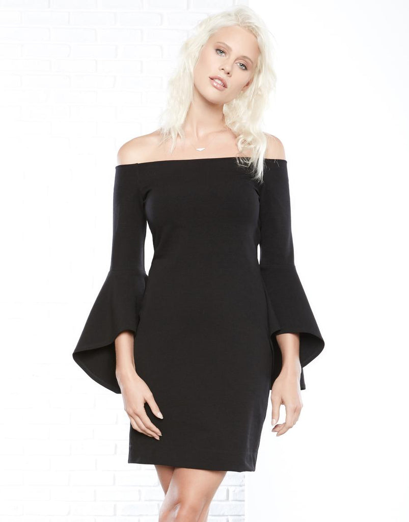 Bell Sleeve Dress - Black