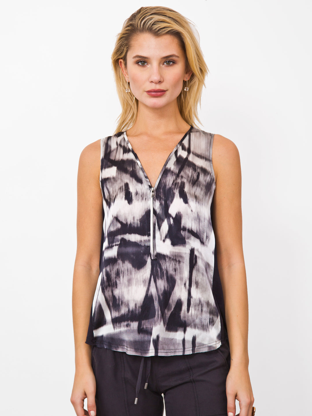 Go Zippy Tank Luxe Printed - It's All A Blur