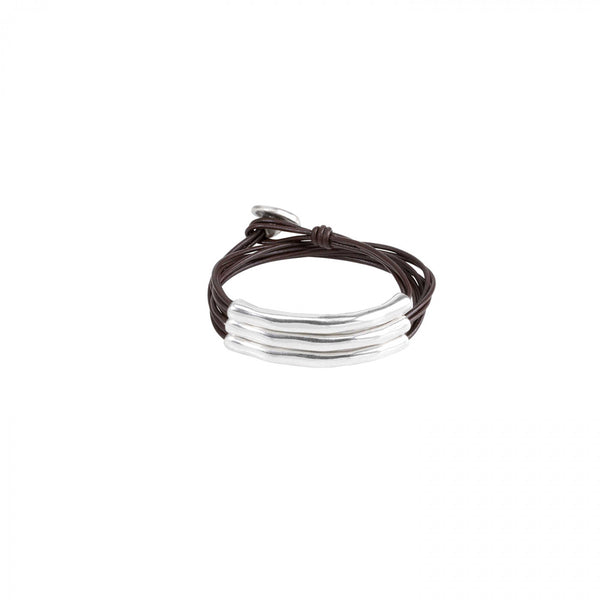 Not To Be Bracelet - Brown/Silver