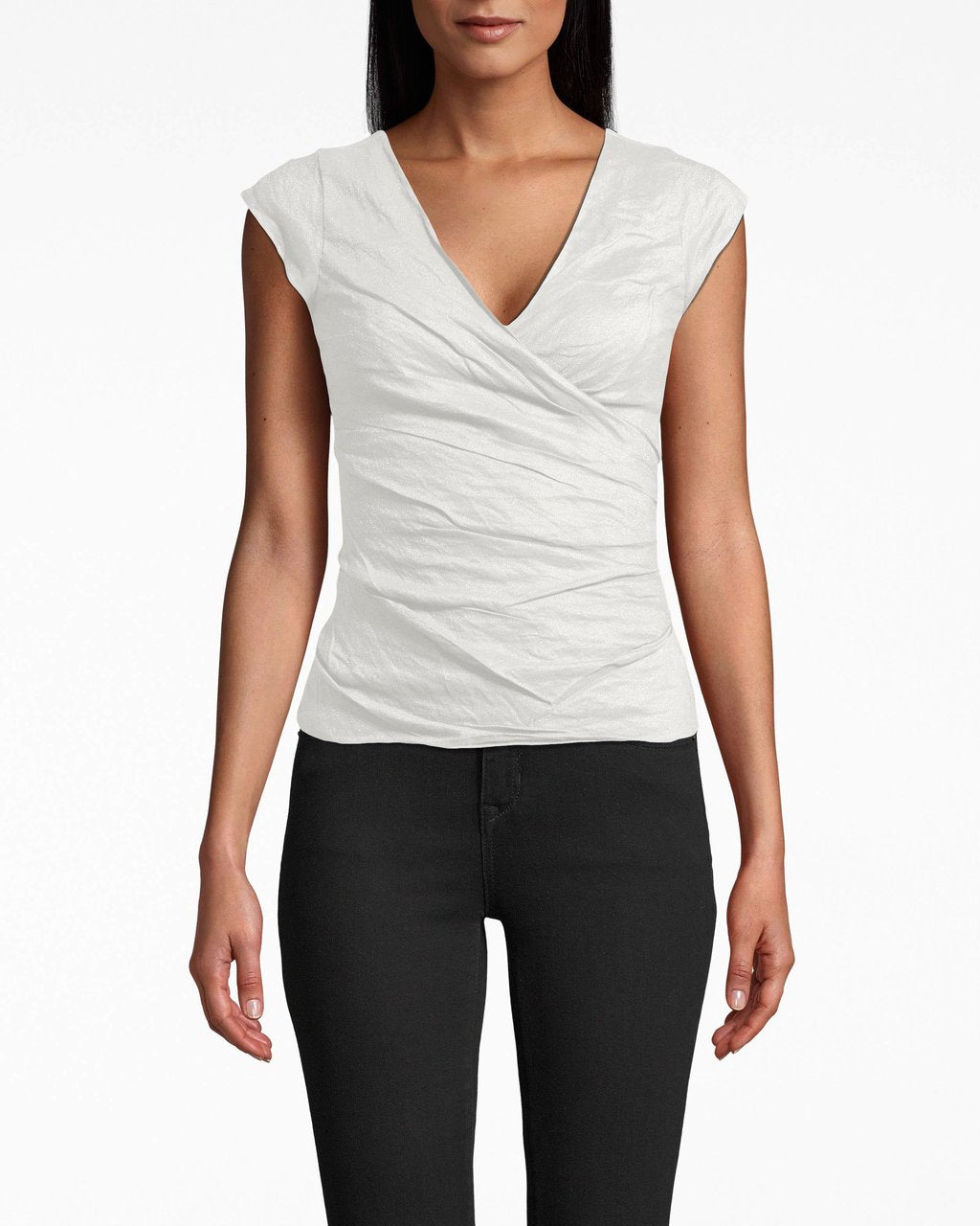 Cotton Metal Logan Top - White