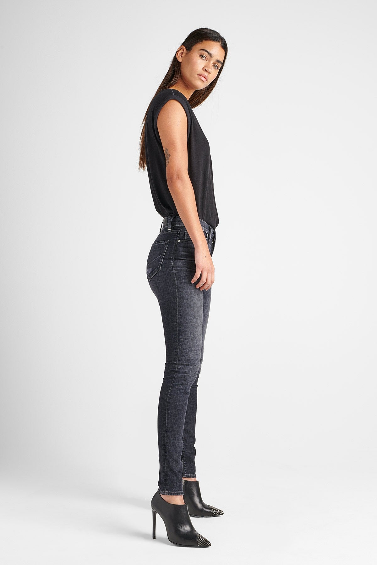 Barbara High Rise Super Skinny Jean - Villians