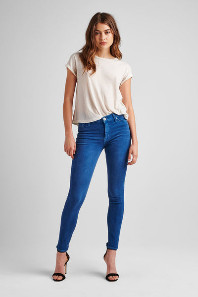 Nico Mid Rise Super Skinny Ankle - Dusted Sapphire
