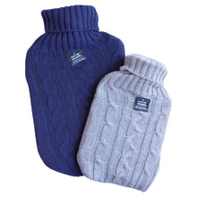 Load image into Gallery viewer, Hot Water Bottle Gray Knit Sweater Cover 1L Small Hot Water Bottle