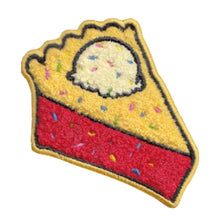 Load image into Gallery viewer, Patch Pie Slice with Ice Cream and Sprinkles Chenille Patch