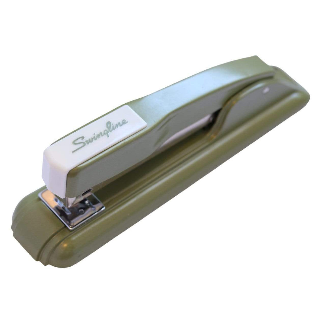 Unique Retro Swingline Green Metallic 1970s Reproduction