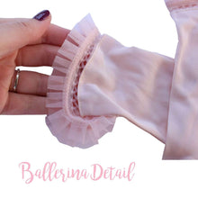 Load image into Gallery viewer, Vintage Delicate Pink Vintage Gloves with Tulle Trimming Ballerina Style