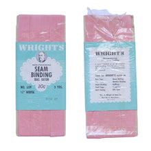 Load image into Gallery viewer, Vintage Vintage Wright's Rose 67 Seam Binding in Original Packaging Pink