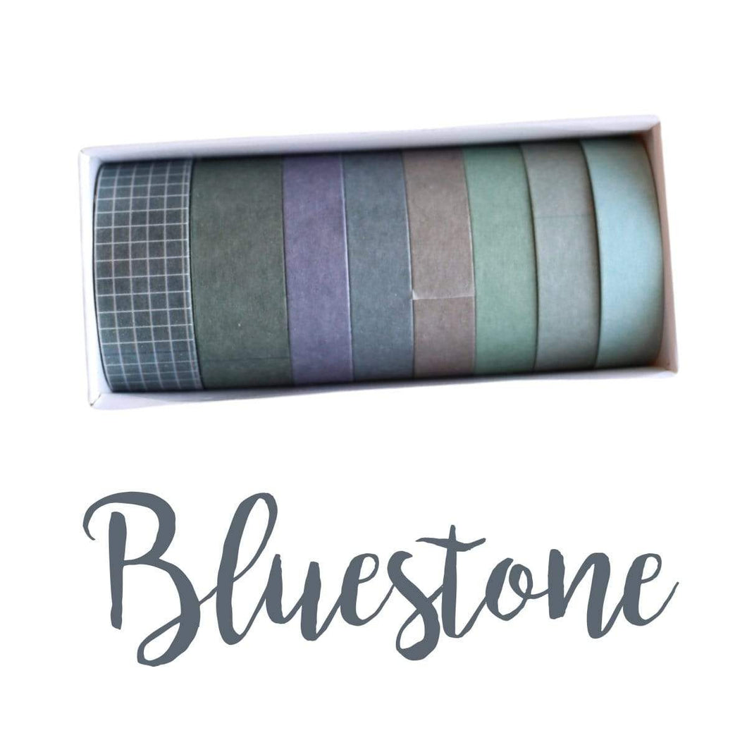 Washi Tape Bluestone Japanese Recycled Washi Tape Palette Set