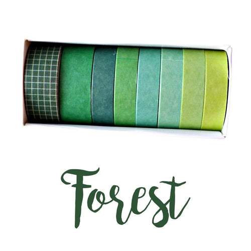 Washi Tape Forest Japanese Recycled Washi Tape Palette Set